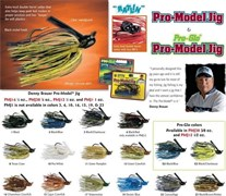 Бактейл Strike King Pro-Model Jig 14Г, Цв. Black/Chartreuse