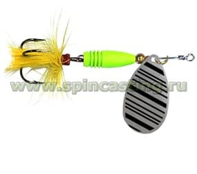 Блесна Spincasting Aglia Yellow Mouche Spinner #3, 8Г, Цв. S4 - фото 11404