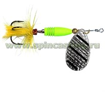 Блесна Spincasting Aglia Bubbles Yellow Mouche Spinner #3, 8Г, Цв. S2