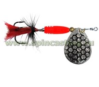 Блесна Spincasting Oval Bubbles Red Mouche Spinner #1, 3Г, Цв. S2