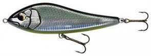 ВОБЛЕР SAVAGE GEAR DEVIATOR BELLY UP JERKBAIT 10см, 22г, цв. #02 Green Silver