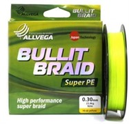 Шнур Allvega Bullit Braid 135М, 0.14Мм, Цв. Hi-Vis Yellow
