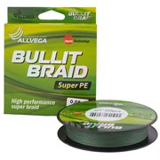 Шнур Allvega Bullit Braid 135М, 0.30Мм, Цв. Dark Green