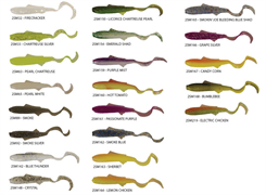 Силиконовые Приманки Gene Larew Swimming Minnows 2 (1Уп.-15Шт), Цв. Licorice Chartreuse Pearl (Lam)