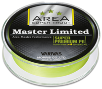 Леска Плетёная Varivas Pe Super Trout Area Master Limited Super Premium 75М, 0.3, Цв. Yellow