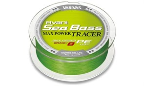 Леска Плетёная Varivas Avani Sea Bass Max Power Tracer Pe 150М, #0.8, Тест 14.7Lb, Цв. Green
