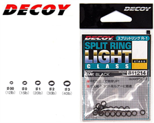 Заводные Кольца Decoy Split Ring Light Class R-4 #0 (Уп. 20 Шт.), Тест 6.8Кг, Цв. Silver